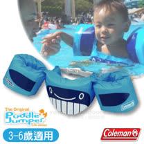 【美國 Coleman】PUDDLE JUMPER兒童手臂型浮力衣.浮力背心.救生衣.游泳圈.救生圈/胸圍可調整.3-6歲適用/CM-28545 藍鯨