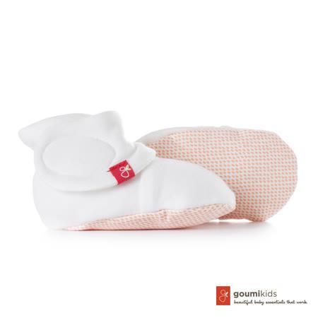 美國 GOUMIKIDS 有機棉嬰兒腳套 (點點-橘色)
