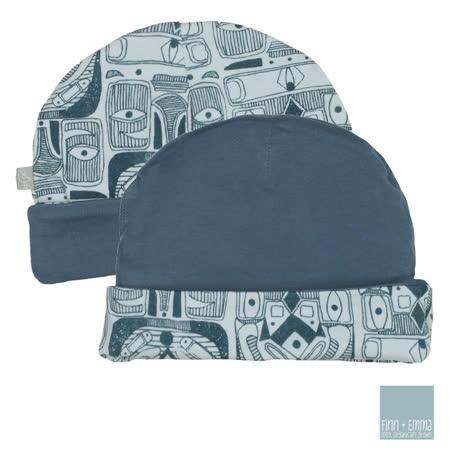 美國 FINN & EMMA 雙面有機棉嬰兒帽 (圖騰Boy)