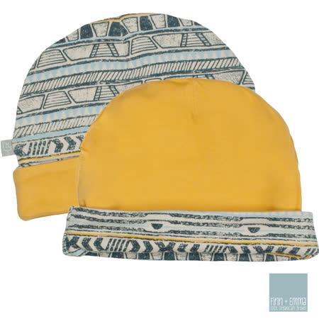 美國 FINN & EMMA 雙面有機棉嬰兒帽 (部落條紋)