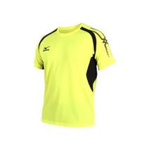 (男) MIZUNO 短袖T恤-短T 慢跑 路跑  美津濃 黃黑