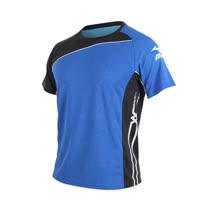 (男) MIZUNO 短袖T恤-慢跑 路跑 美津濃 藍白