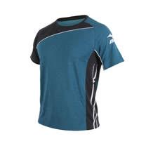 (男) MIZUNO 短袖T恤-慢跑 路跑 美津濃 蔚藍白