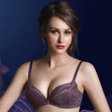 【華歌爾】伊珊露絲360°華麗B-D罩杯內衣(紫玫瑰)