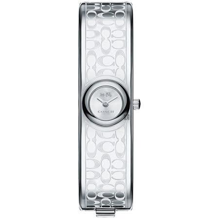 COACH Scout 經典C字時尚手環錶-銀/16mm 14502608