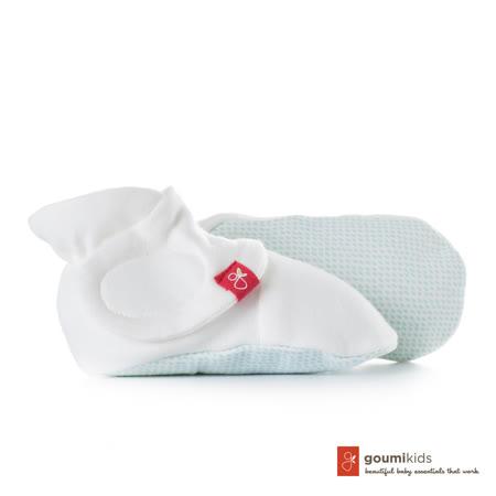 美國 GOUMIKIDS 有機棉嬰兒腳套 (點點-淺綠)