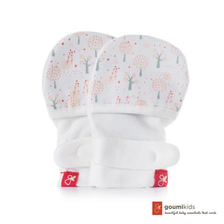 美國 GOUMIKIDS 有機棉嬰兒手套 (魔法森林-橘色)
