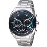 ALBA雅柏日系潮流三眼計時腕錶 VK63-KMB0S AY8023X1