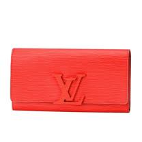 Louis Vuitton LV M60766 Louise EPI水波紋皮革發財包扣式長夾.紅_預購