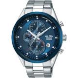 ALBA雅柏 ACTIVE 日系計時男錶-藍/44mm VD57-X106B(AM3461X1)