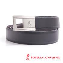 ROBERTA 諾貝達-線條幾何鏤空造型紳士皮帶