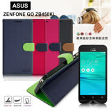 【台灣製造】FOCUS ASUS ZenFone GO ZB450KL 4.5吋 糖果繽紛支架側翻皮套