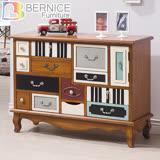 Bernice-布魯克仿舊3.6尺十二抽造型置物櫃/收納櫃/抽屜櫃/斗櫃