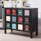 Bernice-維爾仿舊3尺三抽造型置物櫃/收納櫃/抽屜櫃/斗櫃