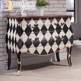 Bernice-法拉仿舊3.1尺二抽造型置物櫃/收納櫃/抽屜櫃/斗櫃