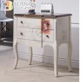 Bernice-夏特仿舊2.4尺二抽造型置物櫃/收納櫃/抽屜櫃/斗櫃
