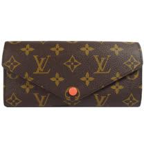 Louis Vuitton LV M64069 JOSEPHINE 經典花紋三折活動零錢長夾.橘 現貨
