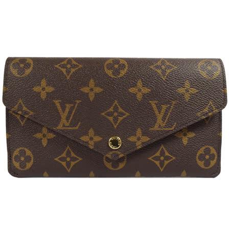 Louis Vuitton LV M62155 JEANNE 经典花纹釦式信封长夹.紫红 现货