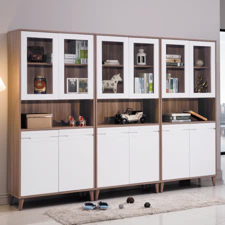 AS-蕾娃米北歐風8尺書櫃組-40x240x182cm