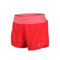 (女) NIKE 梭織短褲-慢跑 路跑 三分褲 橘紅