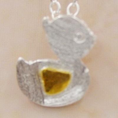 925純銀項鍊吊墜 飾品-小鴨 可愛迷人百搭母親節生日情人節 女 73y33【米蘭 】