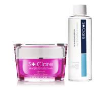 St.Clare聖克萊爾 一掃熬夜醒膚霜+玻尿酸高機能保濕液