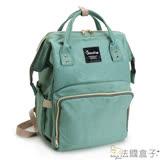 法國盒子  超人氣大開口媽媽包/旅行後背包(綠色)001