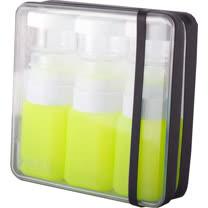 【義大利 BANALE】旅用軟質盥洗罐組(黑+綠瓶) BANALE TRAVEL KIT-BLACK