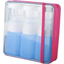 【義大利 BANALE】旅用軟質盥洗罐組(粉+藍瓶) BANALE TRAVEL KIT-PINK