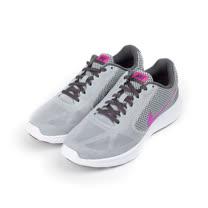 (女) NIKE REVOLUTION 3 休閒跑鞋 灰粉 819303-009 女鞋 鞋全家福