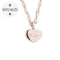 SHUZI™  小愛心 墜鍊 玫瑰金 - 美國製造  PL-S15
