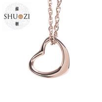 SHUZI™  心型 墜鍊 玫瑰金 - 美國製造  PL-S16