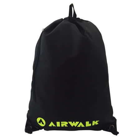 【AIRWALK】第二代輕便熱銷不減的束口包-黑