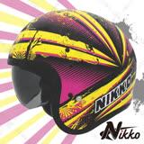 【Nikko N-500#4】彩繪款安全帽│內置遮陽鏡片│半罩│騎士帽│復古帽│台灣製造│飛豹