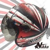 【Nikko N-502#4】泡泡鏡復古安全帽│內置遮陽鏡片│快拆式鏡片│全可拆內襯│飛豹
