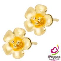 [ 愛無限珠寶金坊 ]  0.48 錢 一對 - 花漾 - 黃金耳環-999.9