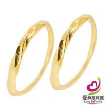 [ 愛無限珠寶金坊 ]  0.54 錢 一對 - 柔媚 - 黃金耳環-999.9