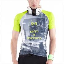 TOUCH AERO 雙色印花T恤 AQM-10623(商品不含配件)