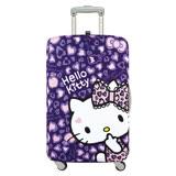 LOQI 行李箱套│豹紋紫【M號】LMKT07