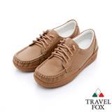 Travel Fox 舒適軟皮帆船鞋-917352-(棕-308)(女)