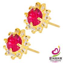 [ 愛無限珠寶金坊 ]  0.89 錢 一對 - 閃耀璀璨 - 黃金耳環-999.9
