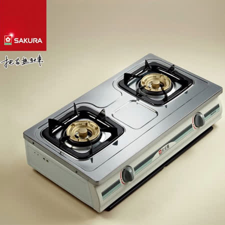 【含安裝+領券折】SAKURA櫻花 兩口傳統式安全瓦斯爐 G-612K (天然瓦斯)