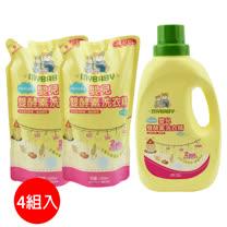【愛的世界】MYBABY 嬰兒雙酵素洗衣精組合包*4組/箱-台灣製-