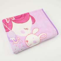 【愛的世界】淑女與兔子童毯/100×140CM
