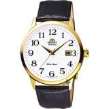 ORIENT東方 時尚玩家腕錶-白x金框x咖啡/41mm FER27005W