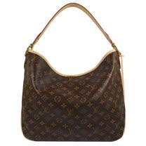 Louis Vuitton LV M50156 Delightful MM 經典花紋皮飾邊肩背包.米_現貨