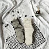【PS Mall】燙鑽薄紗襪堆堆襪加長中筒襪 網襪 (J732)