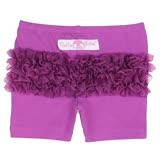 美國 RuffleButts 小公主甜美荷葉短褲_優雅深紫 (BRSP05)
