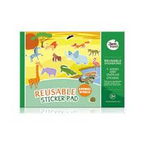 兒童靜電貼紙-動物世界