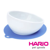 HARIO 小型犬專用粉藍磁碗  PTS-CB-BU